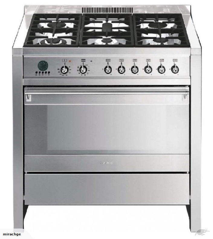 Smeg CSP19-7 90cm Pyrolytic Dual Fuel Freestanding Oven