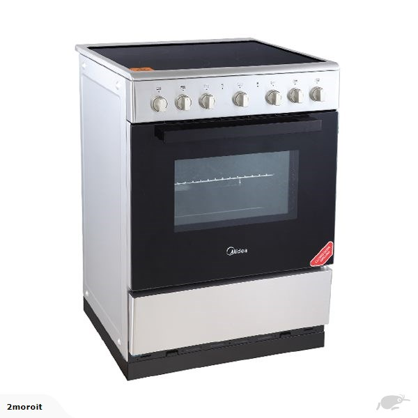 Midea 60cm Freestanding Stove With Ceramic Cooktop S/S - 24DME4R109