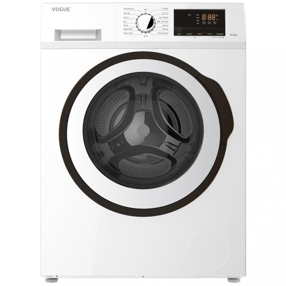 VOGUE Front Load Washing Machine 9 Kg White